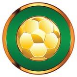 Golden Soccer Ball royalty free illustration