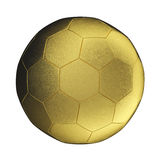 Golden soccer ball Royalty Free Stock Image