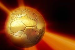 Golden soccer ball Royalty Free Stock Photos