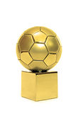 Golden soccer cup Stock Images