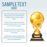 Golden Soccer Cup Vector. Ready for Your Text Royalty Free Stock Photography
