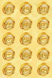 Golden social media icons v.2.0 Royalty Free Stock Photo