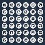 Golden Social Network Icons Stock Photo