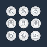 Golden Social Network Icons Stock Images
