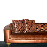 Golden sofa Royalty Free Stock Images