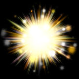 Golden Solar Burst Stock Photos