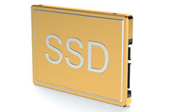 Golden Solid State Drive SSD Royalty Free Stock Photos