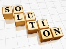 Golden solution 2 Royalty Free Stock Photos