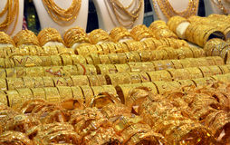 Golden Souk in Dubai Stock Images
