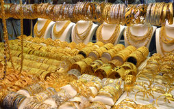 Golden Souk in Dubai Royalty Free Stock Photos
