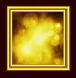 The Golden space. Illustration in frame Stock Images