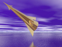 Golden Spaceship Royalty Free Stock Photo