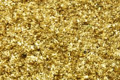 Golden spangles Stock Photo