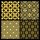 Golden spanish traditional kitchen tiles Royalty Free Stock Photos