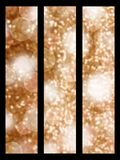 Golden sparkle banners. Set of three abstract banners Royalty Free Stock Photo