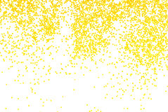 Golden sparkle glitter on white Stock Photos