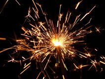 Golden sparkler Stock Photos