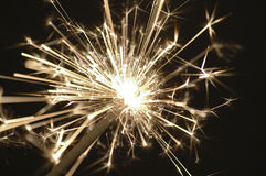 Golden sparkler Royalty Free Stock Photo