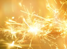 Free Golden Sparkler Fire For Party Celebration Background. Royalty Free Stock Photos - 110188668