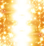 Golden sparkles Stock Photos