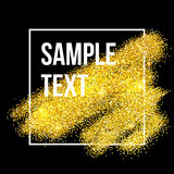 Golden sparkles brushstroke background. Vector Stock Images