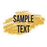 Golden sparkles brushstroke background. Vector Royalty Free Stock Image