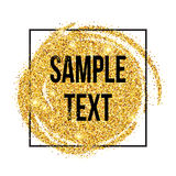 Golden sparkles brushstroke background. Vector Royalty Free Stock Photo