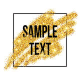 Golden sparkles brushstroke background. Vector Royalty Free Stock Photos