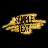 Golden sparkles brushstroke background. Vector Royalty Free Stock Photography