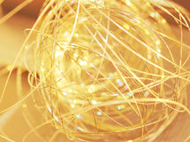 Golden sparkles. Golden glare with light sparkles Royalty Free Stock Photos