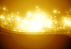 Golden sparkling background Stock Photography