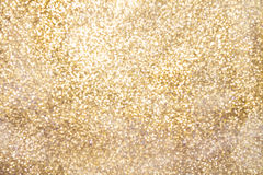 Golden sparkling background with copy space Stock Photo