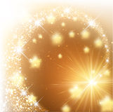 Golden sparkling background Stock Images