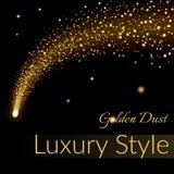 Golden sparkling falling star 1 Royalty Free Stock Photos