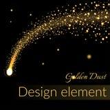 Golden sparkling falling star 2 Stock Images