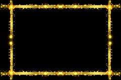 Golden Sparkling frame Stock Photos