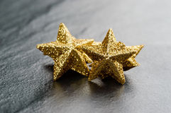 Golden sparkling stars Royalty Free Stock Photography