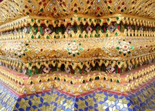 Colourful tile detail at the Wat arun temple of the dawn Bangkok Thailand Stock Images