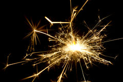 Golden sparks Royalty Free Stock Images