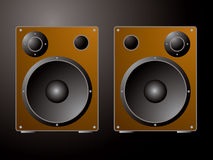 Golden speakers Royalty Free Stock Image