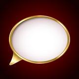Golden speech bubble Stock Images