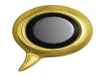 Golden Speech Bubbles Royalty Free Stock Photos