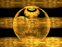 Golden Sphere Stock Photo