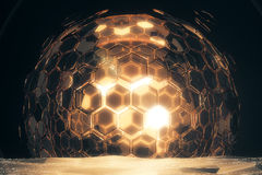 Golden sphere Royalty Free Stock Image