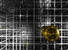 Golden sphere Royalty Free Stock Photos