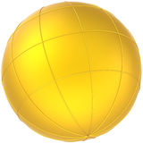 Golden sphere Earth planet globe Stock Photography