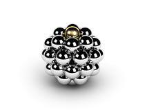 Golden sphere leadership Stock Photos