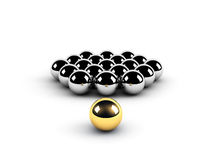 Golden sphere leadership conception Royalty Free Stock Photos