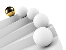 Golden sphere leadership conception Royalty Free Stock Photography