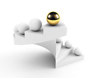 Golden sphere leadership conception Stock Images